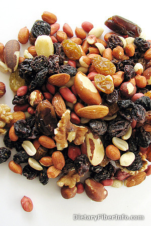 Nuts and sultanas: a source of fiber